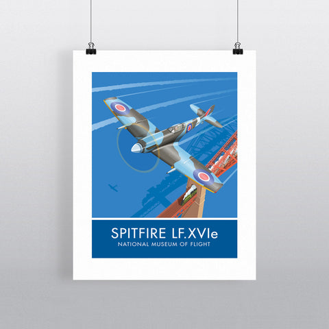 Spitfire LF.XVIe, National Museum of Flight 20cm x 20cm Mini Mounted Print