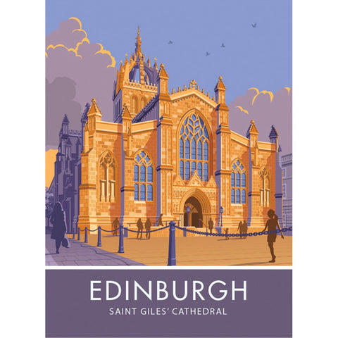 Edinburgh, Saint Giles' Cathedral 20cm x 20cm Mini Mounted Print