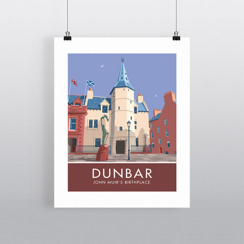 Dunbar, John Muir's Birthplace 20cm x 20cm Mini Mounted Print