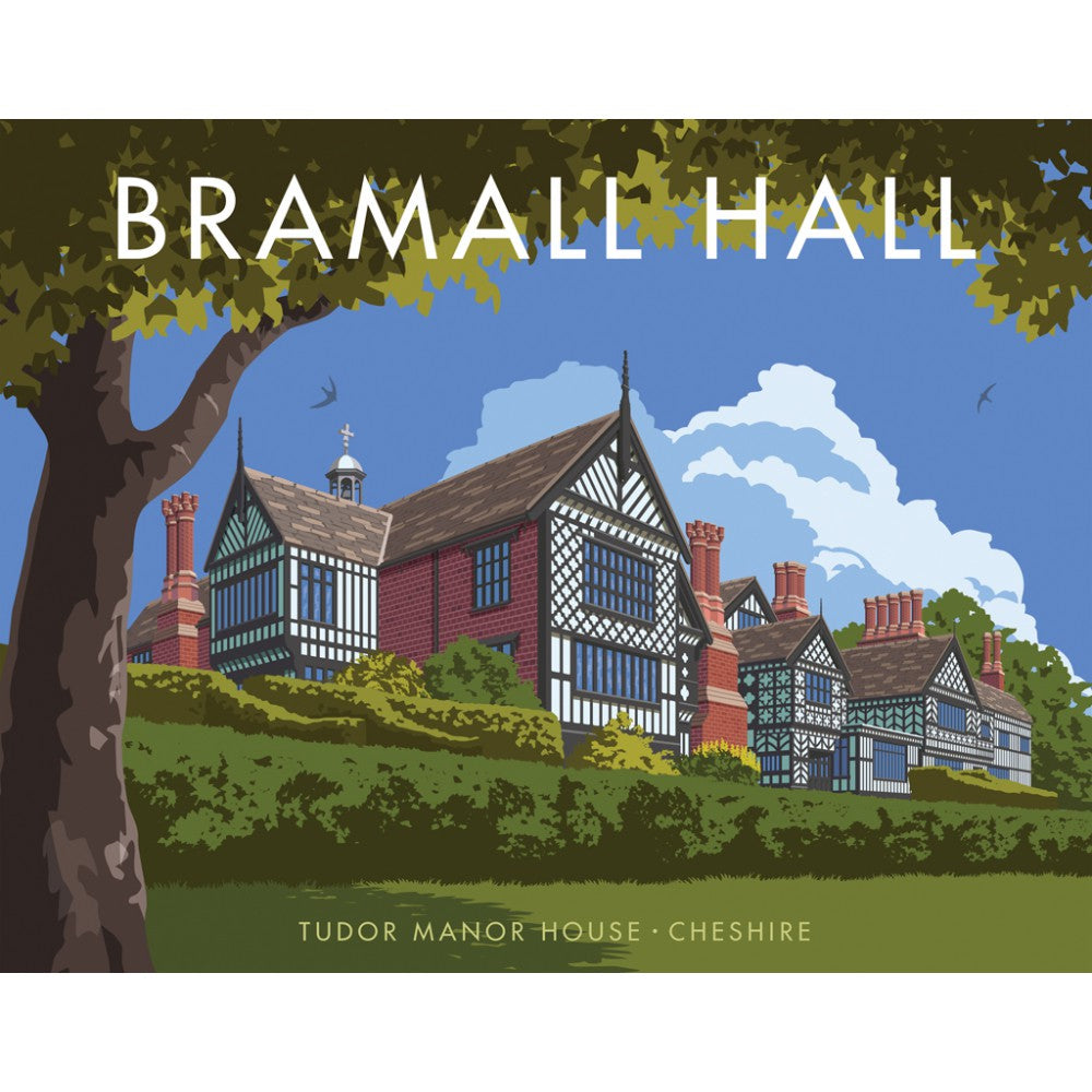 Bramall hall, Cheshire Tea Towel