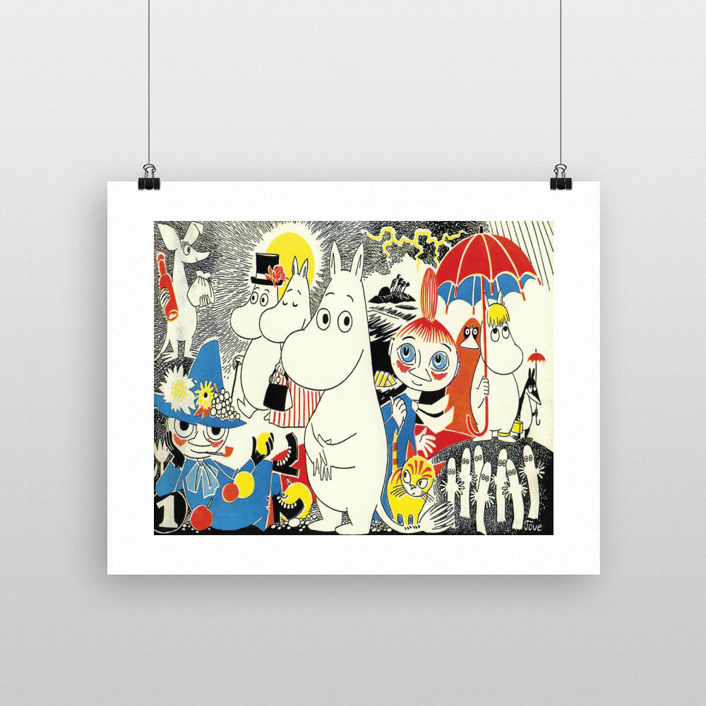 Moomintroll, Little My and Friends 11x14 Print
