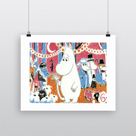 Moomintroll Party 11x14 Print