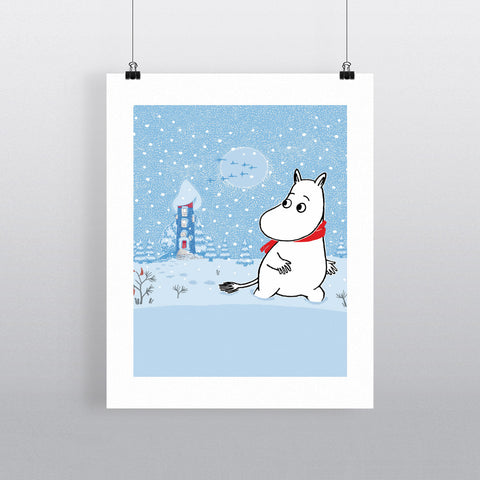 Moomintroll in the Snow 11x14 Print