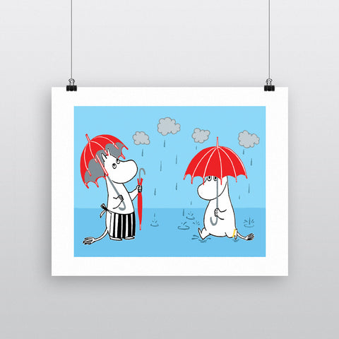Moominmamma and Moomontroll in the rain 11x14 Print