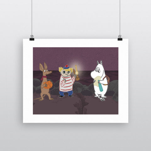 Moomintroll, Too-ticky and Sniff 11x14 Print