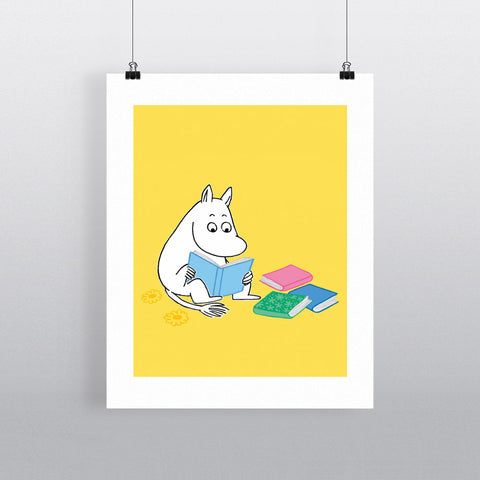 Moomintroll reading a book 11x14 Print