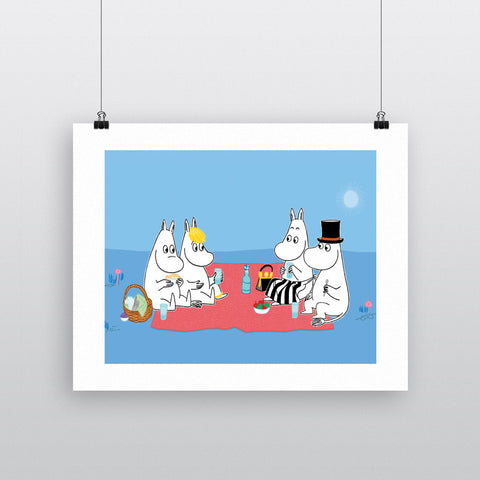 The Moomins have a picnic 11x14 Print