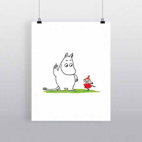 Moomin Troll and Little My 11x14 Print