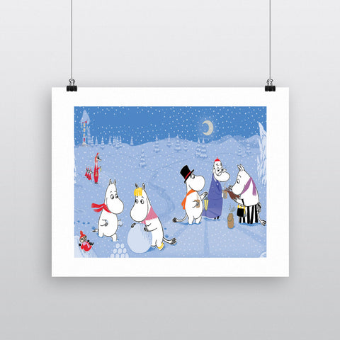 The Moomins play in the snow 11x14 Print