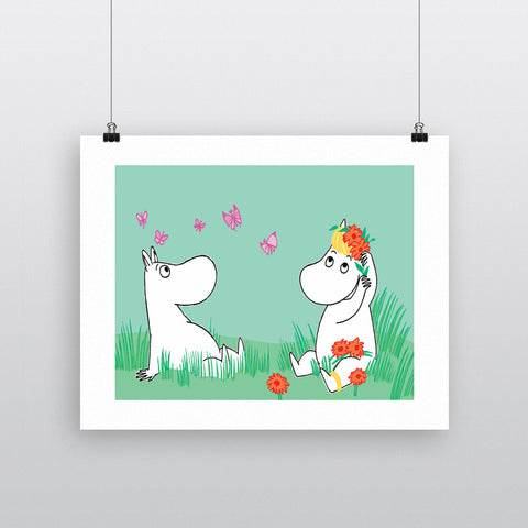 Snorkmaiden and Moomintroll 11x14 Print