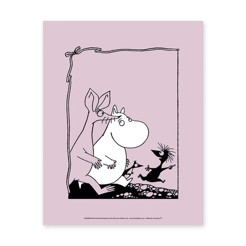 MOOMIN108: Moomin and Sniff. 11x14 Framed Print