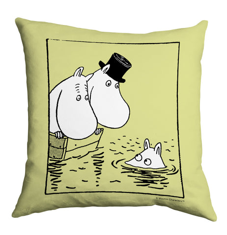 MOOMIN111: Moomin on Water. 11x14 Framed Print