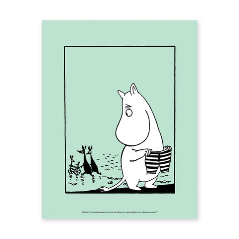 MOOMIN112: Moomin Striped Shorts. 11x14 Framed Print