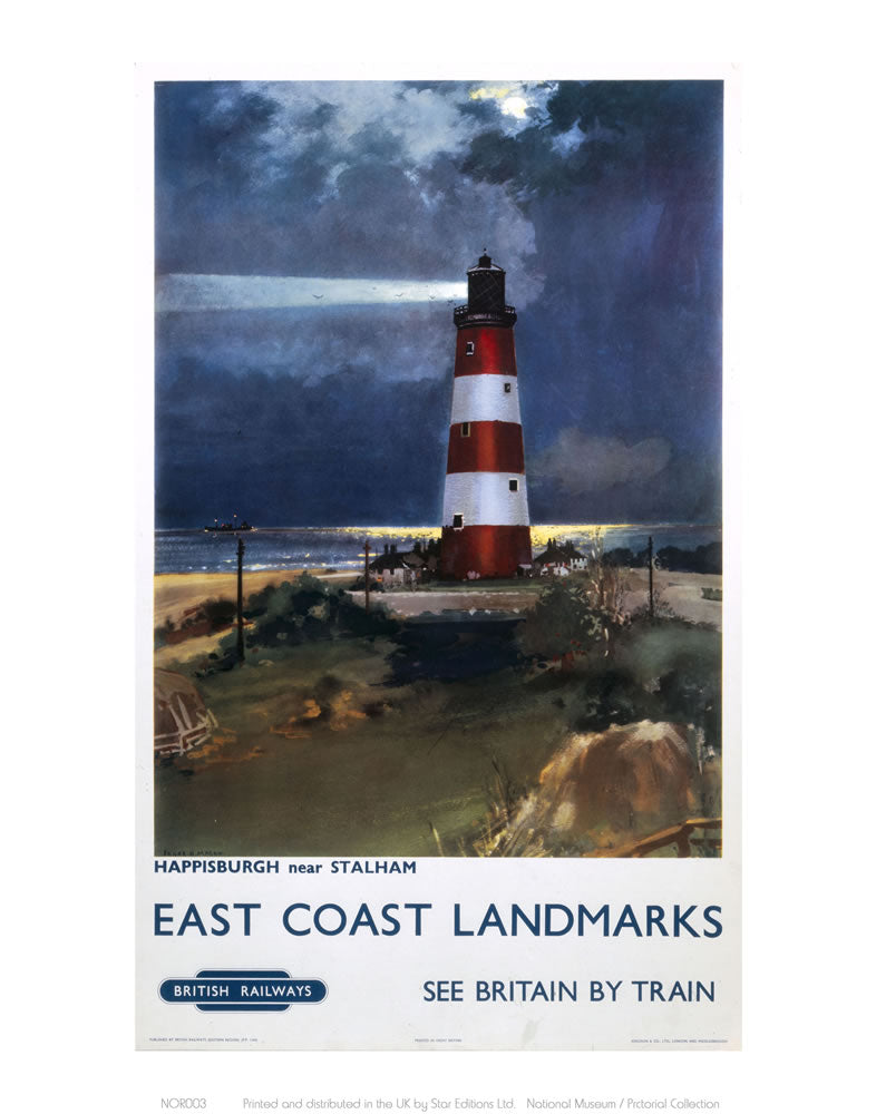 "East Coast Landmarks - Lighthouse 24"" x 32"" Matte Mounted Print"