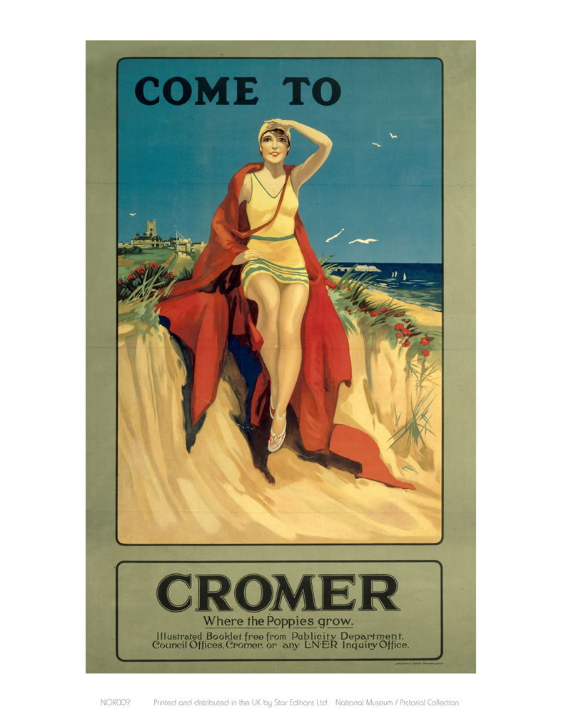 "Come to Cromer 24"" x 32"" Matte Mounted Print"