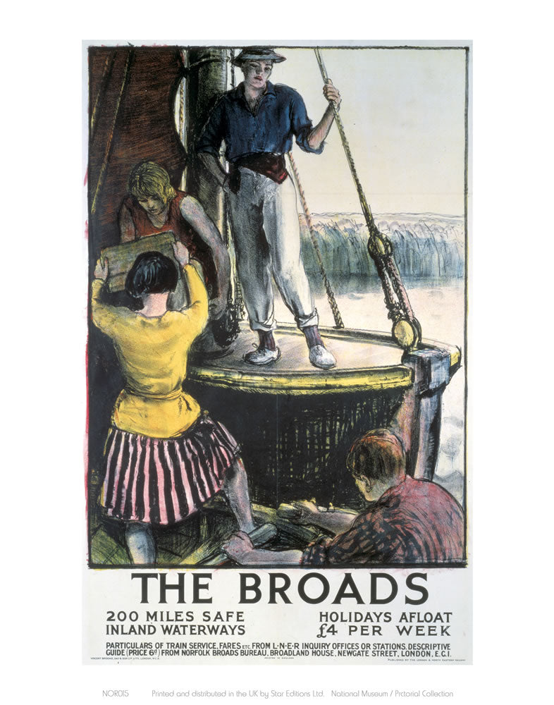 "The Broads 24"" x 32"" Matte Mounted Print"
