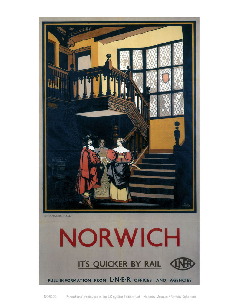 "Norwich Inside Tudor Building 24"" x 32"" Matte Mounted Print"