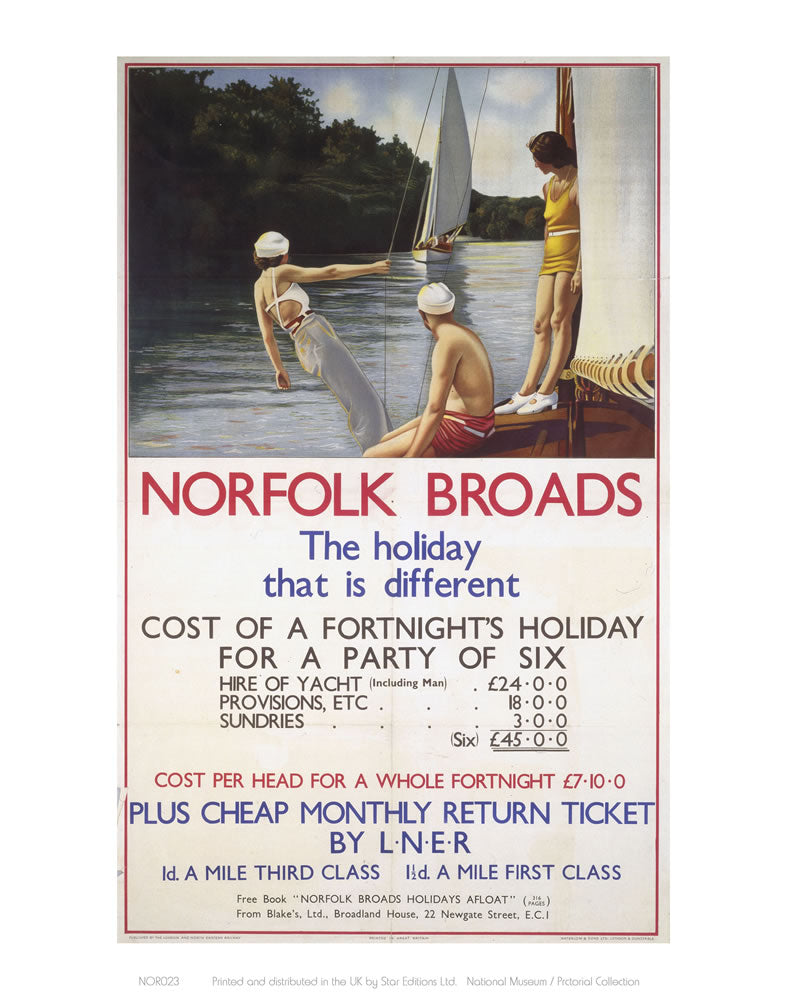 "Norfolk Broads the holiday that is different 24"" x 32"" Matte Mounted Print"