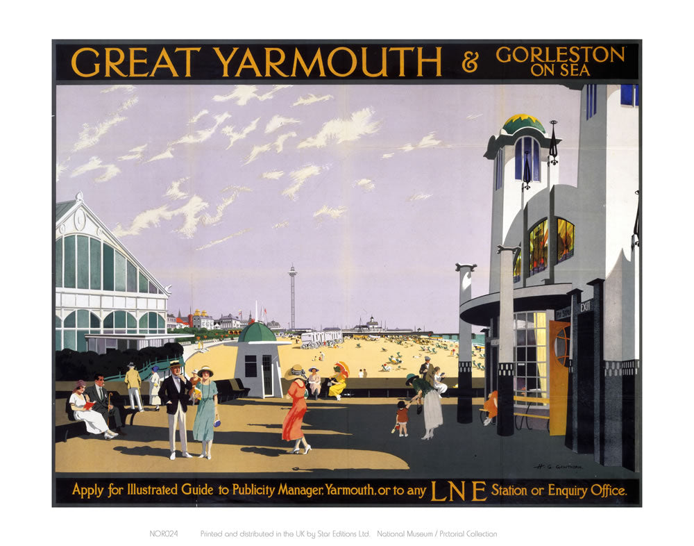 "Great Yarmouth sea front 24"" x 32"" Matte Mounted Print"