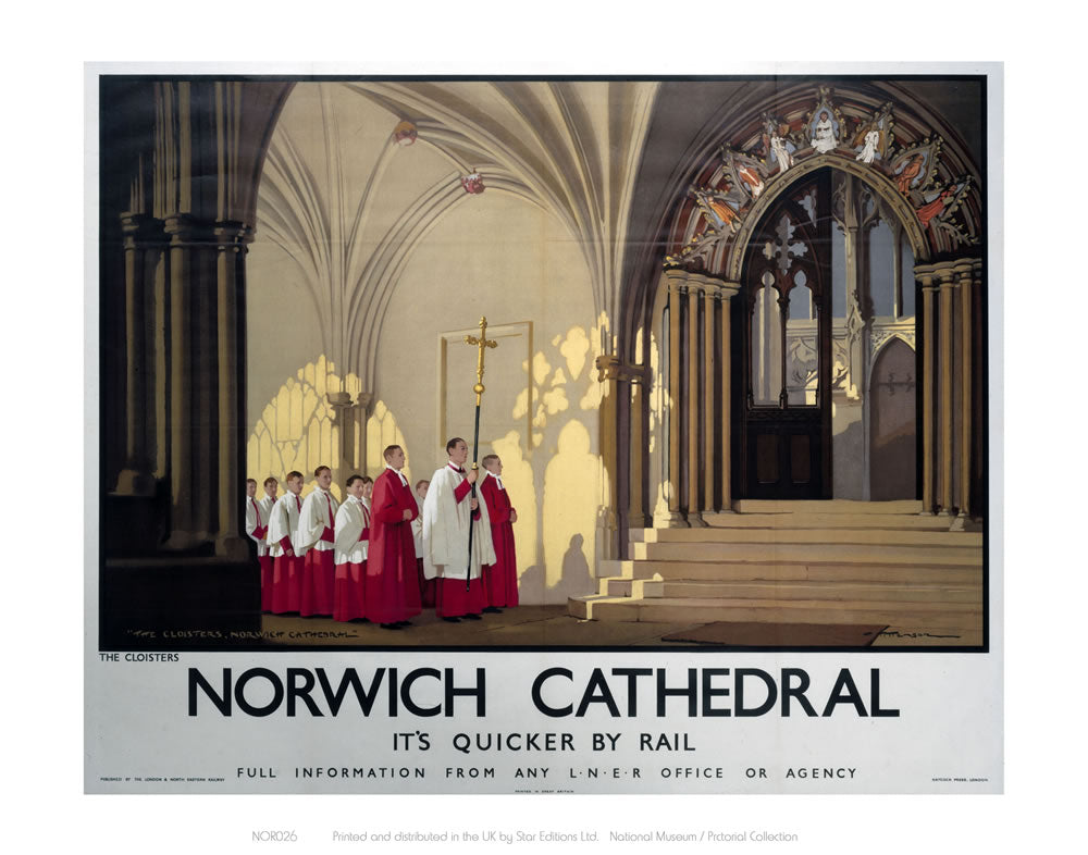 "Norwich Cathedral Choir 24"" x 32"" Matte Mounted Print"