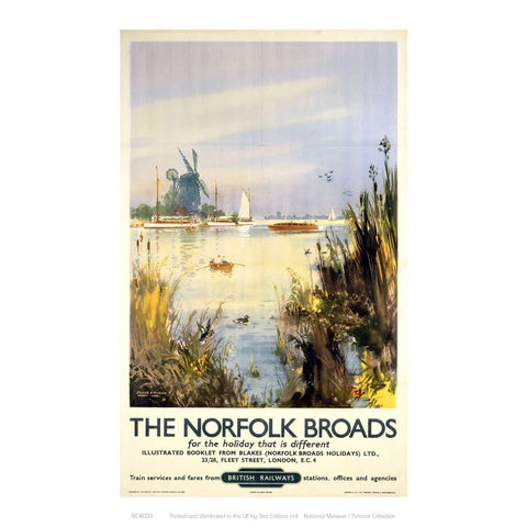 "Broads Watercolour 24"" x 32"" Matte Mounted Print"