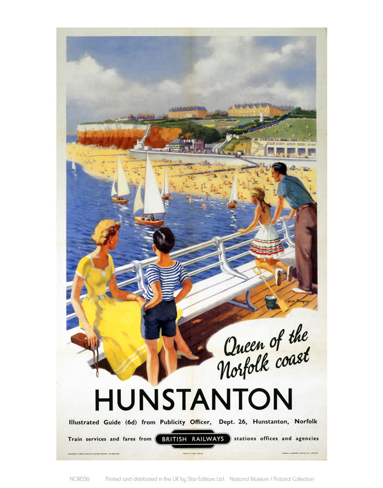 "Hunstanton Queen of the Norfolk Coast 24"" x 32"" Matte Mounted Print"