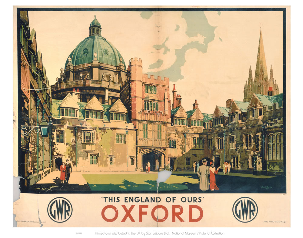 "This England of Ours Oxford 24"" x 32"" Matte Mounted Print"