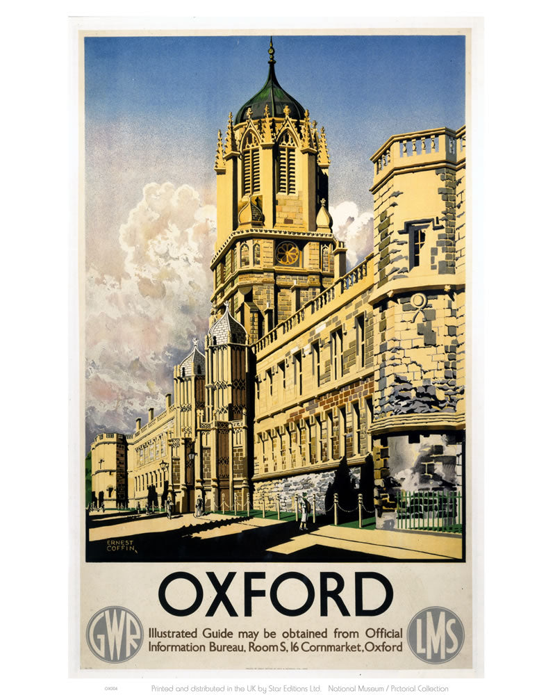 "Oxford GWR Colleges 24"" x 32"" Matte Mounted Print"