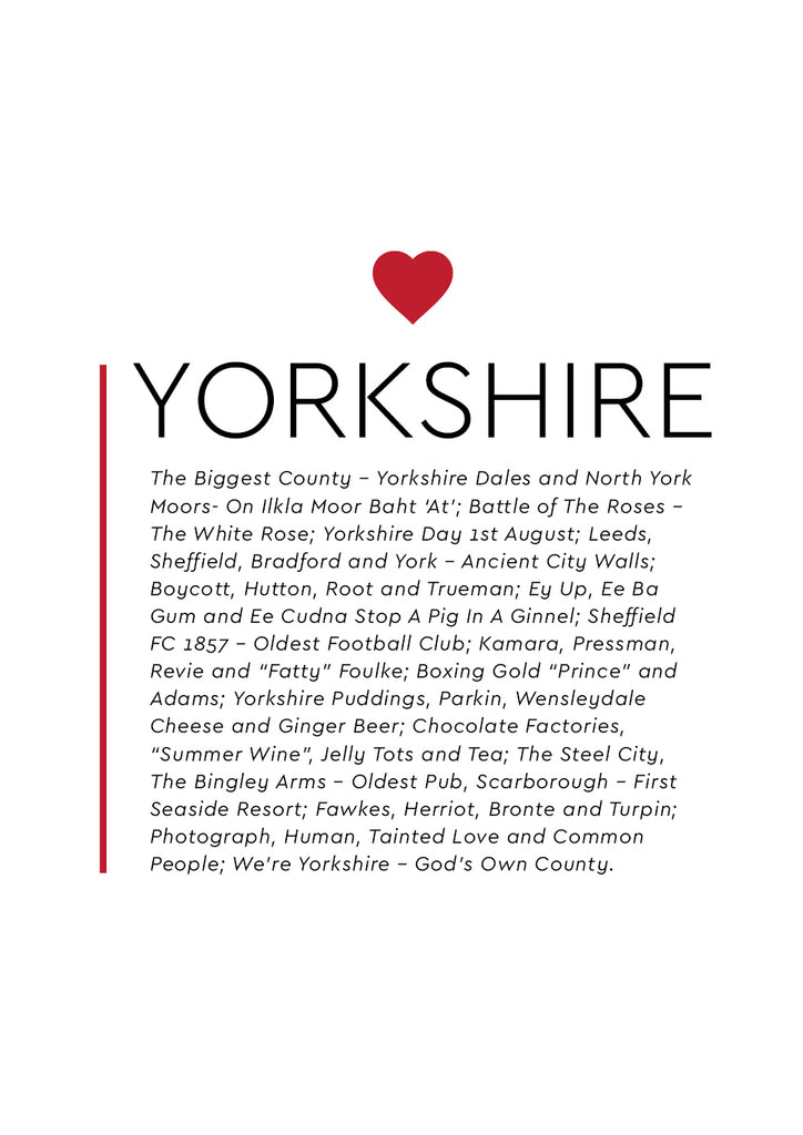 POPYKS001 - Yorkshire Heart