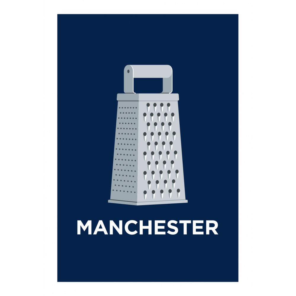 Pate Greater Manchester 20cm x 20cm Mini Mounted Print