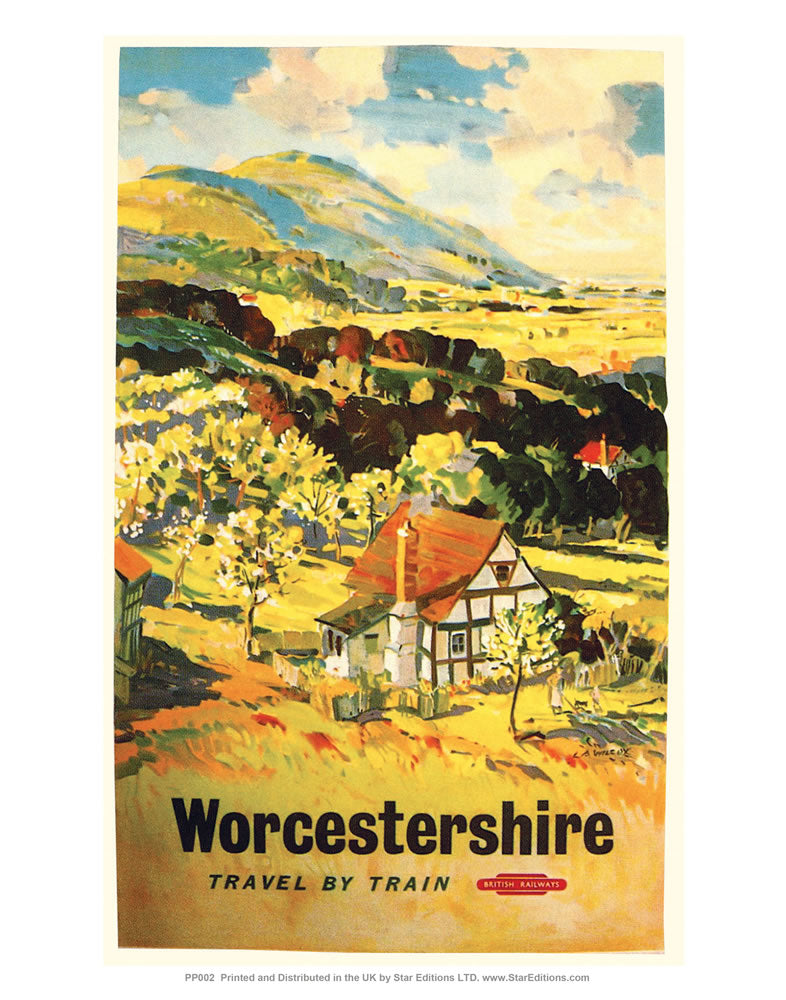 "Worcestershire 24"" x 32"" Matte Mounted Print"