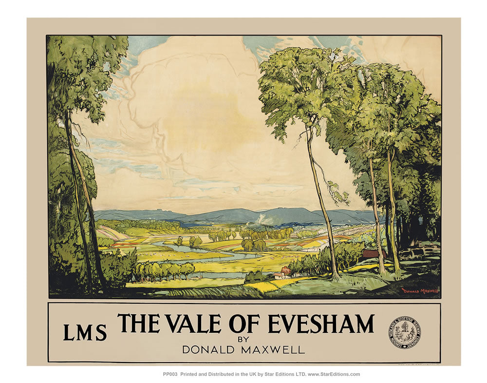 "The Vale of Evesham 24"" x 32"" Matte Mounted Print"