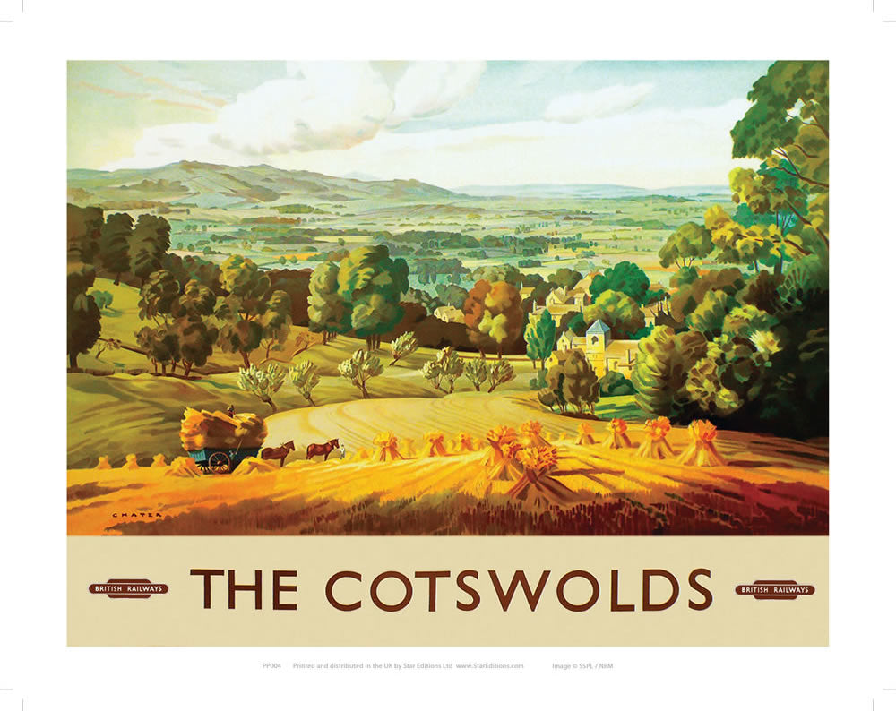 "The Cotswolds 24"" x 32"" Matte Mounted Print"