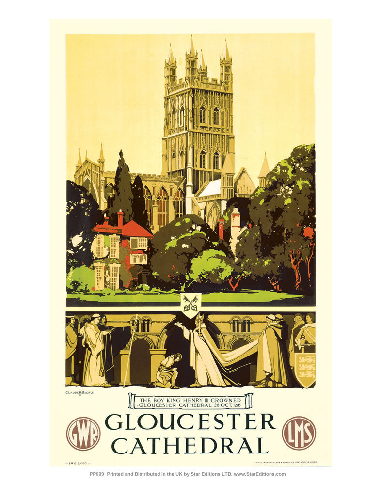 "Gloucester Cathedral 24"" x 32"" Matte Mounted Print"