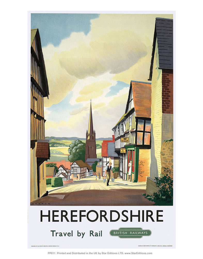 "Herefordshire 24"" x 32"" Matte Mounted Print"