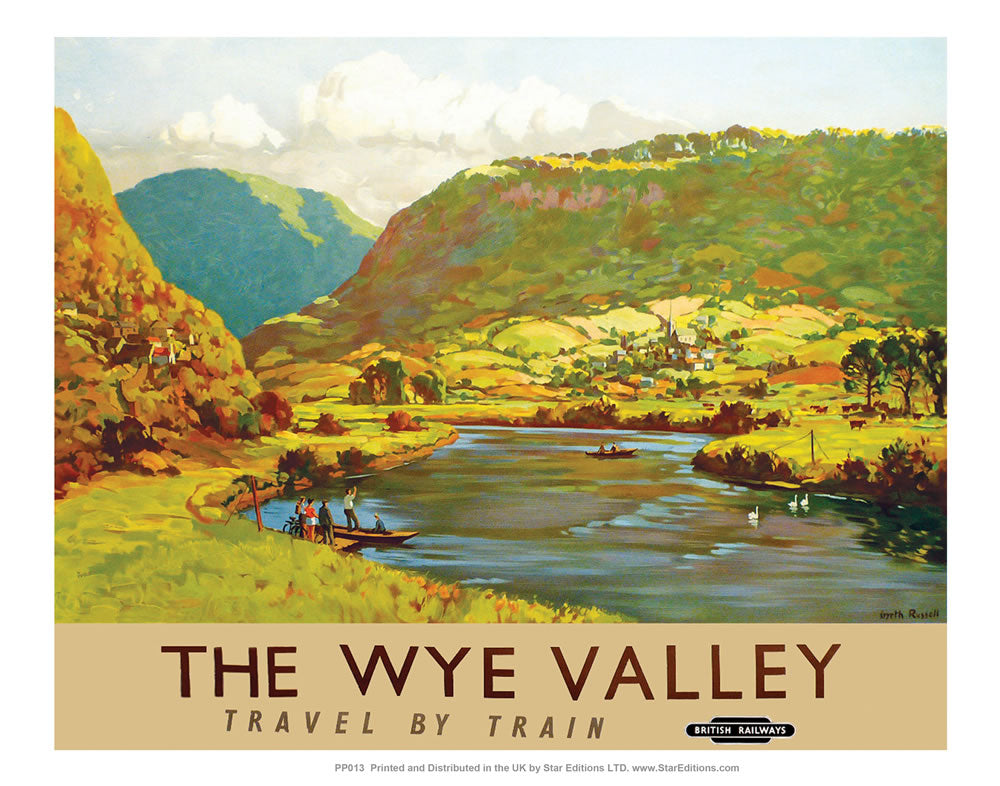 "PP013 The Wye Valley 24"" x 32"" Matte Mounted Print"