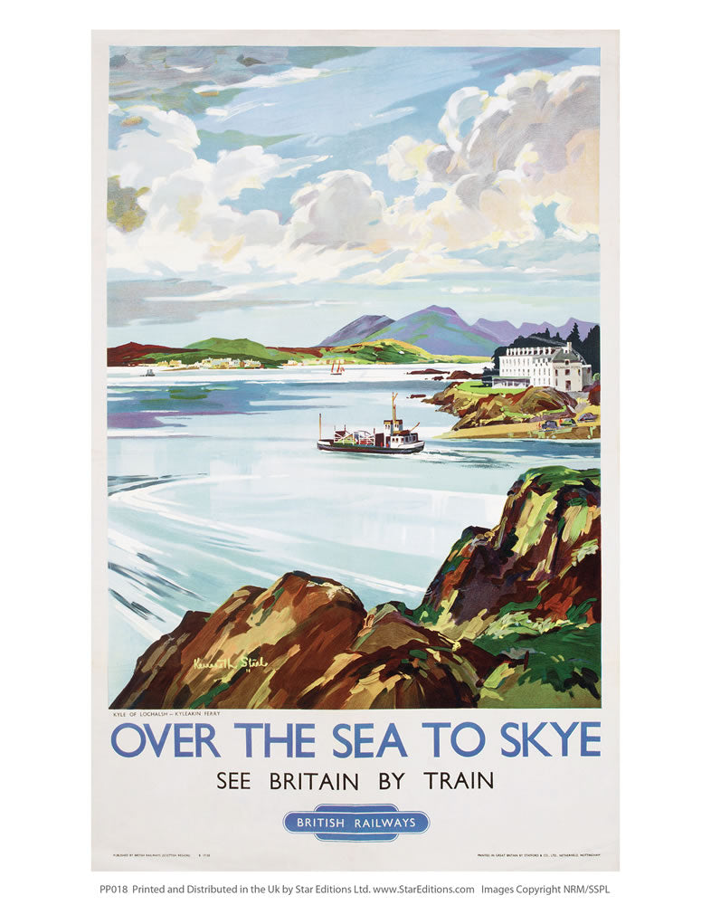 "PP018 Over the sea to skye 24"" x 32"" Matte Mounted Print"