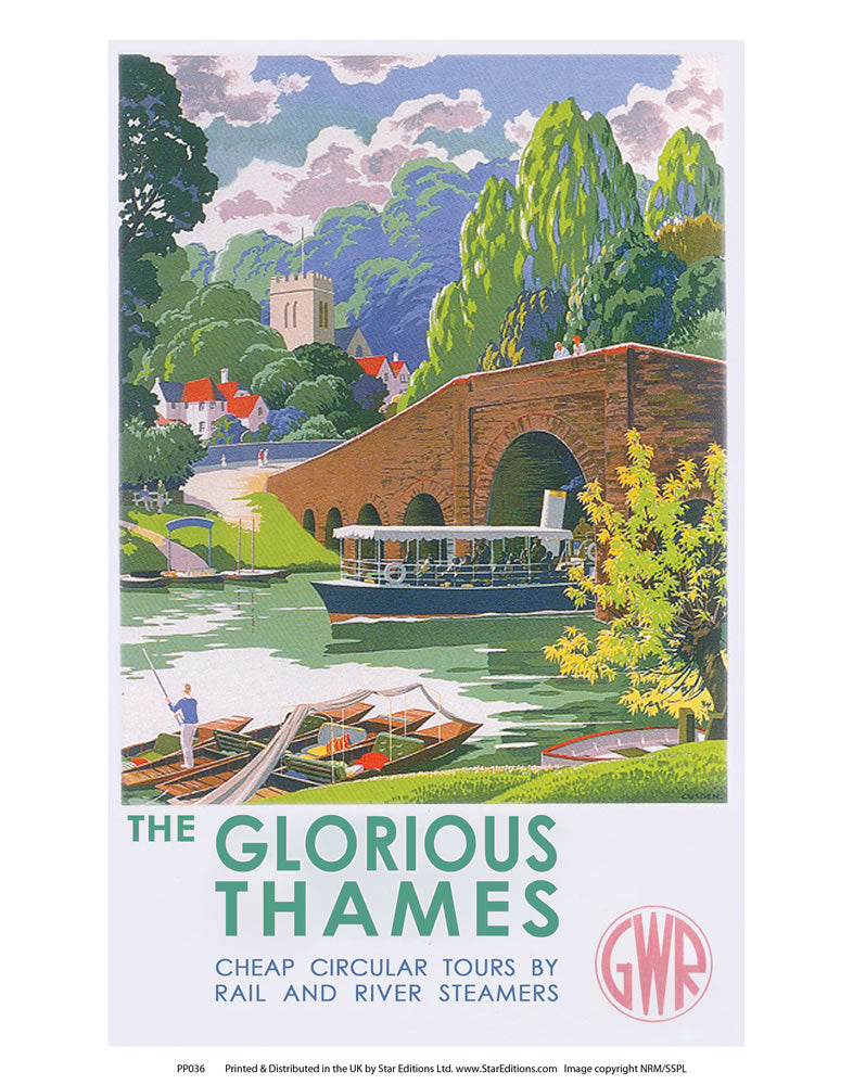 "The Glorious Thames 24"" x 32"" Matte Mounted Print"