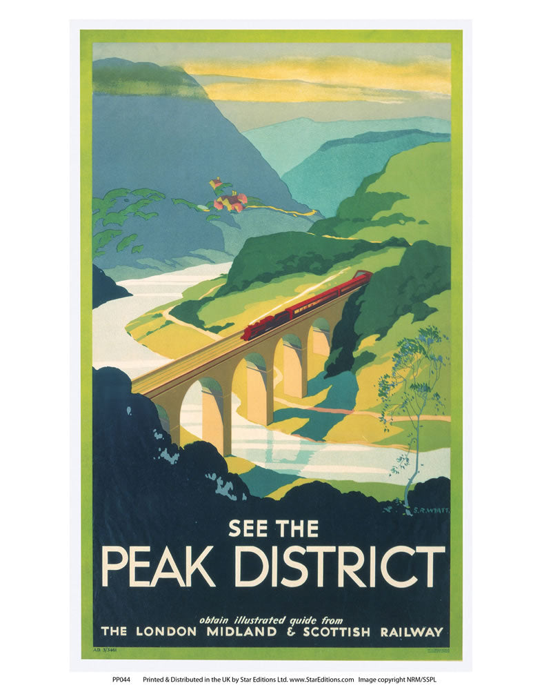 "PP044 The Peak District 24"" x 32"" Matte Mounted Print"