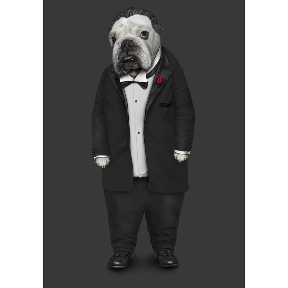 Dog Father 11x14 Framed Print (Black)