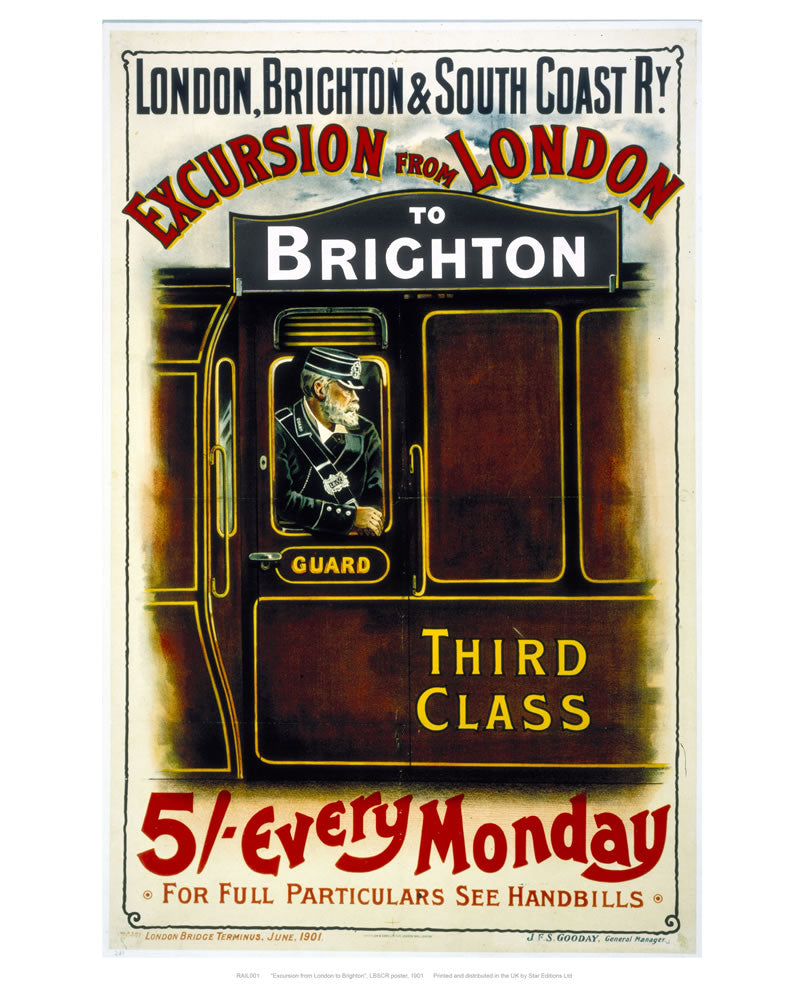 "Excursion from London to Brighton 24"" x 32"" Matte Mounted Print"