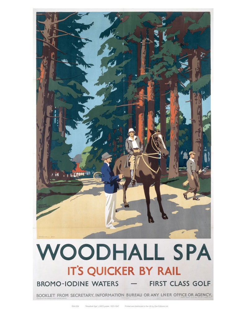 "Woodhall Spa 24"" x 32"" Matte Mounted Print"