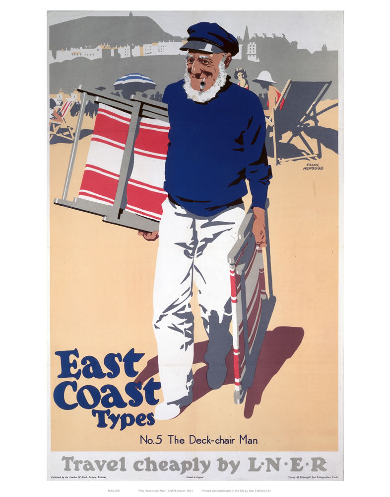 "East Coast Types Cheeky Sailor 24"" x 32"" Matte Mounted Print"