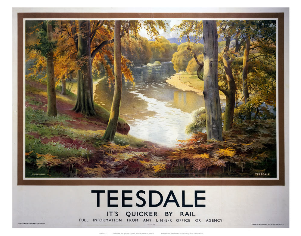 "Teesdale 24"" x 32"" Matte Mounted Print"