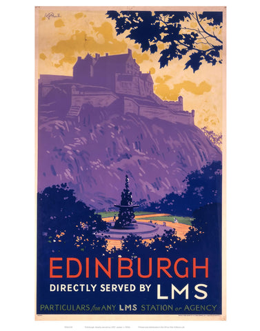 "Edinburgh Purle Hill 24"" x 32"" Matte Mounted Print"