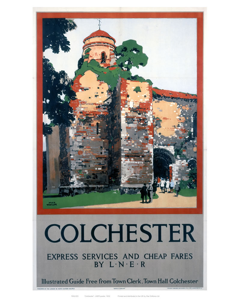 "Colchester Castle 24"" x 32"" Matte Mounted Print"