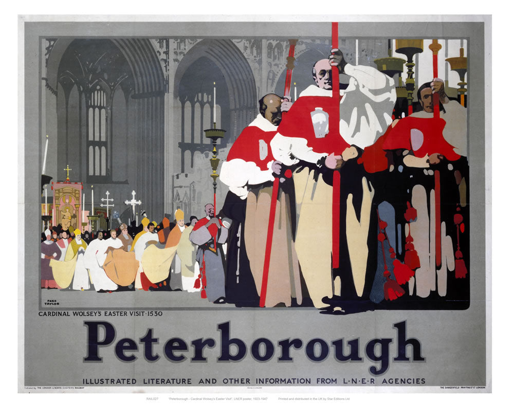 "Peterborough Cathedral Procession 24"" x 32"" Matte Mounted Print"