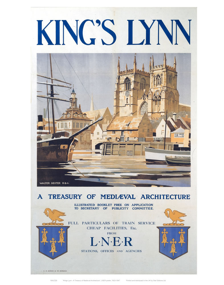 "King's Lynn 24"" x 32"" Matte Mounted Print"