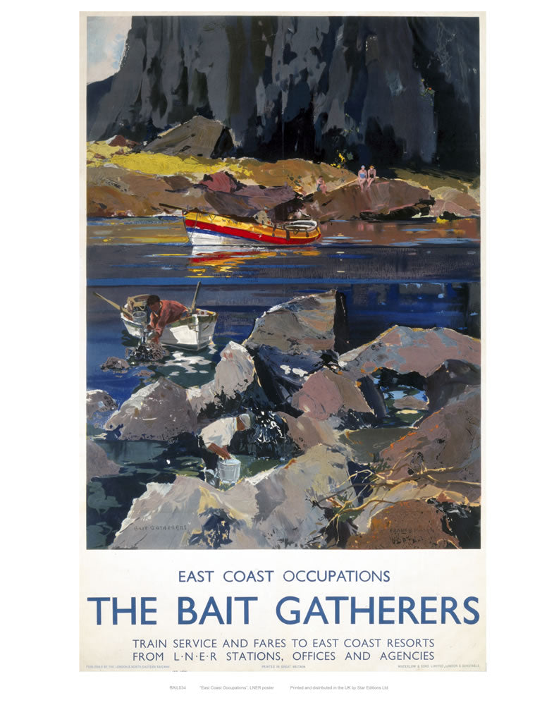"The Bait Gatherers 24"" x 32"" Matte Mounted Print"