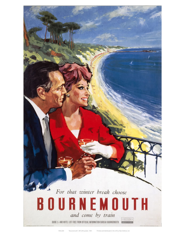 "Bournemouth Couple 24"" x 32"" Matte Mounted Print"